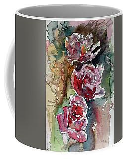 Coffee Mug featuring the painting Roses by Kovacs Anna Brigitta