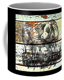 Coffee Mug featuring the drawing Simmental Bull by Larry Campbell