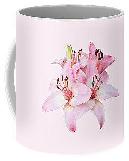 Spray Of Pink Lilies Coffee Mug by Jane McIlroy