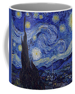 Coffee Mug featuring the painting Starry Night by Van Gogh