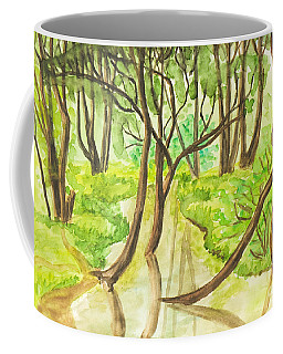Summer Landscape, Painting Coffee Mug by Irina Afonskaya