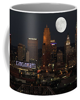 Coffee Mug featuring the photograph Super Moon Cincinnati 2016 by Randall Branham