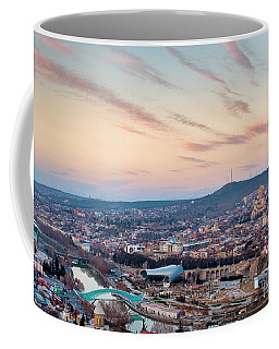 Coffee Mug featuring the photograph View Of Tbilisi by Fabrizio Troiani