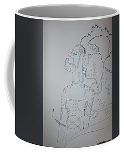 Coffee Mug featuring the drawing Tender Love by Gloria Ssali