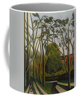 Coffee Mug featuring the painting The Banks Of The Bievre Near Bicetre by Henri Rousseau