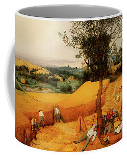 Coffee Mug featuring the painting The Harvesters by Pieter Bruegel The Elder