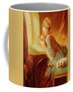 Coffee Mug featuring the painting The Love Letter by Jean Honore Fragonard