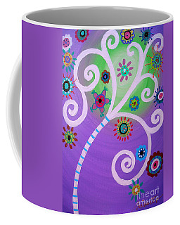 Coffee Mug featuring the painting Tree Of Life by Pristine Cartera Turkus