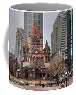 Coffee Mug featuring the photograph Trinity Church - Copley Square - Boston by Joann Vitali