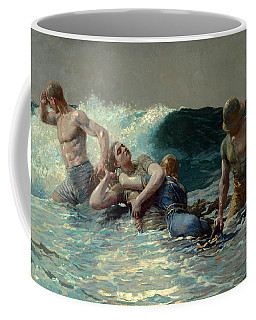 Coffee Mug featuring the painting Undertow by Winslow Homer