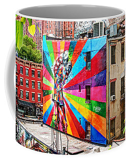 V - J Day Mural By Eduardo Kobra Coffee Mug
