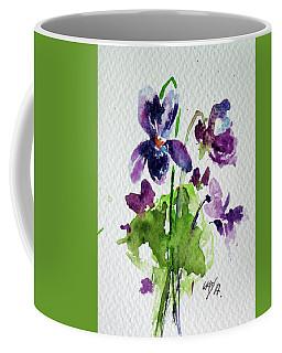 Coffee Mug featuring the painting Violet by Kovacs Anna Brigitta