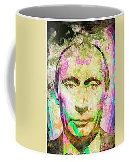 Coffee Mug featuring the mixed media Vladimir Putin by Svelby Art