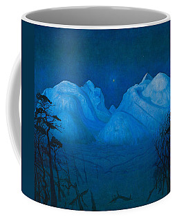 Winter Night In The Mountains Coffee Mug