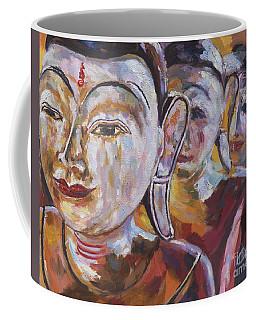 3 Wooden Buddhas Coffee Mug