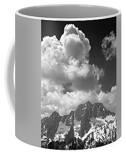 304638 Clouds Over Mt. Stuart Bw Coffee Mug