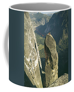 306540 Climbers On Lost Arrow 1967 Coffee Mug