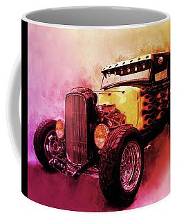 31 Model A Ford Fiery Watercolour Coffee Mug