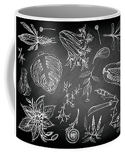 Hand Drawn Of Leafy And Salad Vegetable Coffee Mug
