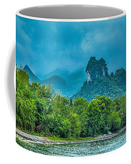 Karst Mountains And Lijiang River Scenery Coffee Mug