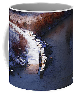 Coffee Mug featuring the digital art 33rd And Canal by David Blank