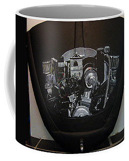 Coffee Mug featuring the painting 356 Porsche Engine On A Vw Cover by Richard Le Page