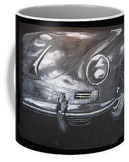 Coffee Mug featuring the painting 356 Porsche Front by Richard Le Page