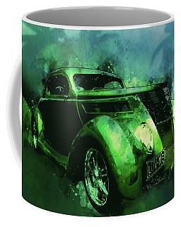 37 Ford Street Rod Luv Me Green Meanie Coffee Mug