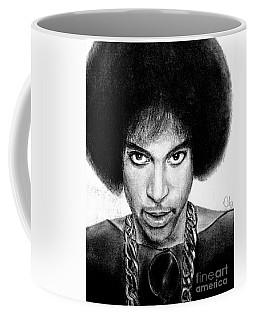 3rd Eye Girl - Prince Charcoal Portrait Drawing - Ai P Nilson Coffee Mug