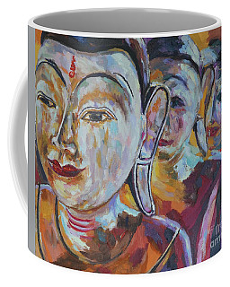 3wooden Buddhas Coffee Mug by Michael Cinnamond