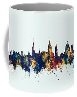 Coffee Mug featuring the digital art Annapolis Maryland Skyline by Michael Tompsett