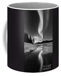 Aurora Borealis Over Sandvannet Lake Coffee Mug