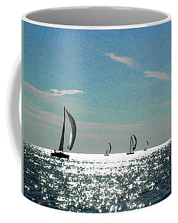 4 Boats On The Horizon Coffee Mug