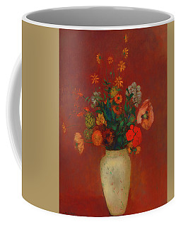 Coffee Mug featuring the painting Bouquet In A Chinese Vase by Odilon Redon