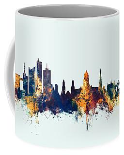 Coffee Mug featuring the digital art Brussels Belgium Skyline by Michael Tompsett