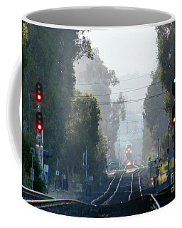 Caltrain Train Station, Burlingame, California Coffee Mug