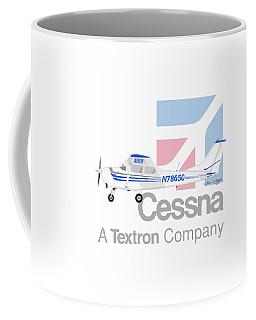 Coffee Mug featuring the digital art Cessna O-2 Skymaster by Arthur Eggers