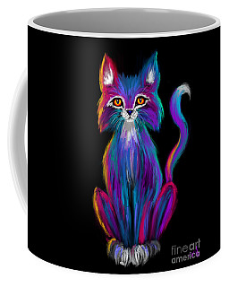 Colorful Cat Coffee Mug by Nick Gustafson