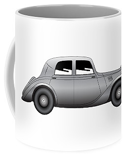 Coffee Mug featuring the digital art Coupe - Vintage Model Of Car by Michal Boubin