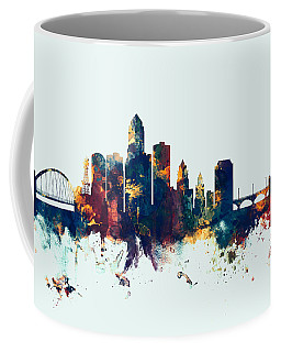Des Moines Iowa Skyline Coffee Mug