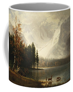Coffee Mug featuring the painting Estes Park, Colorado, Whyte's Lake by Albert Bierstadt