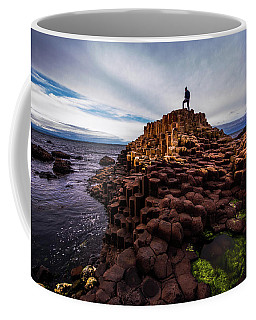 Man Atop Giant's Causeway Coffee Mug