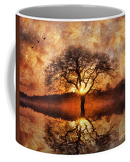 Coffee Mug featuring the digital art Lone Tree by Ian Mitchell