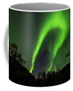 Northern Lights, Aurora Borealis At Kantishna Lodge In Denali National Park Coffee Mug