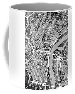 Philadelphia Pennsylvania Street Map Coffee Mug