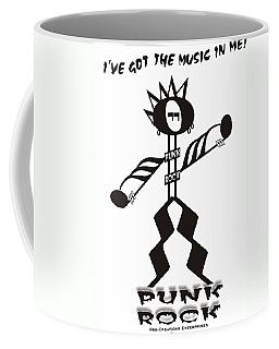 Punk Rock Coffee Mug by Maria Watt