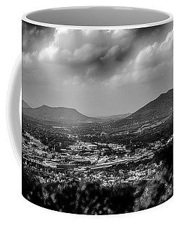 Roanoke City As Seen From Mill Mountain Star At Dusk In Virginia Coffee Mug
