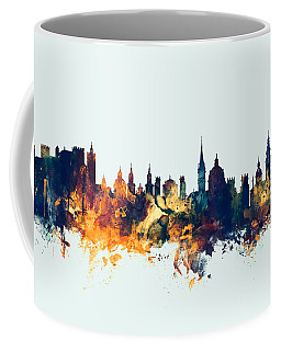 Salzburg Austria Skyline Coffee Mug by Michael Tompsett