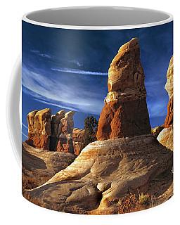 Sandstone Hoodoos In Utah Desert Coffee Mug