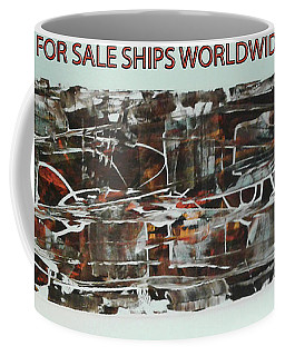Series Abstract Worlds Only Originals For Sale Worldwide Shipping Coffee Mug by Sir Josef - Social Critic -  Maha Art